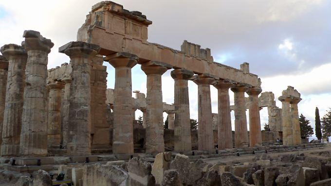 Zeustempel der altgriechischen Stadt Kyrene, der einst wichtigsten Kolonie der Griechen in Nordafrika.