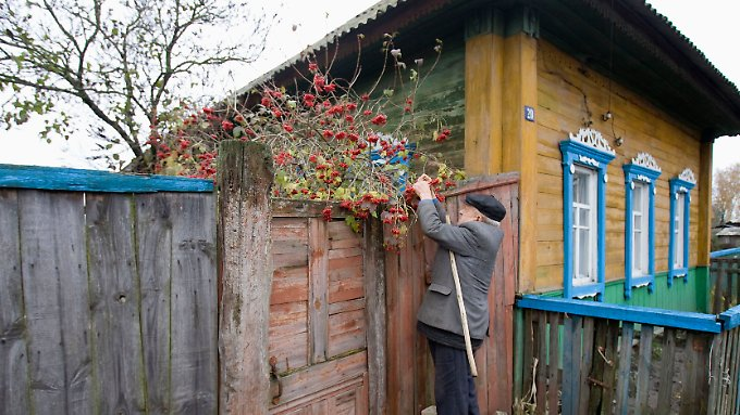 Selbstversorger: In Wetka ernähren sich viele von dem, was der Garten hergibt - aber nicht ohne vorherige Untersuchung auf Radioaktivität.