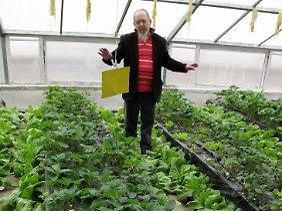 Karl Fall aus Ingolstadt, Mitarbeiter der Welthungerhilfe, will die Nahrungsmittelversorgung der städtischen Bevölkerung verbessern.
