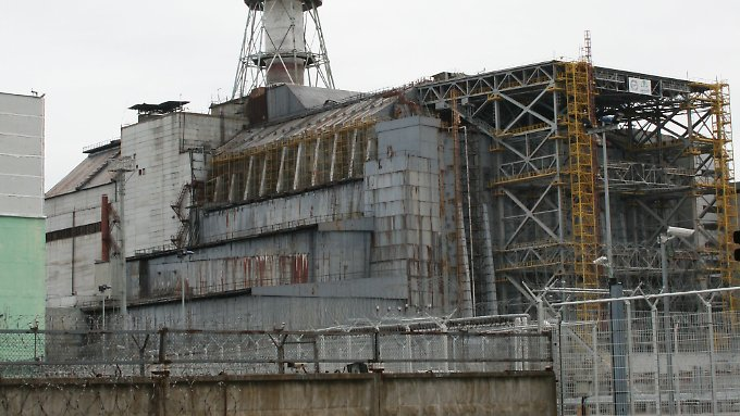Der Unglücksreaktor 4 von Tschernobyl.
