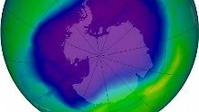 Das NASA-Bild aus dem Jahr 2006 zeigt das Ozonloch über der Antarktis.