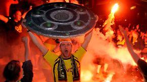 """""""Meistaaaaaaaaaaaaaaaa!"""": Dortmund im Siegesrausch"""