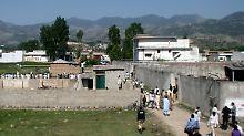 Auf diesem Anwesen im pakistanischen Abbottabad wurde Bin Laden von US-Soldaten getötet. Von hier aus sollen die Gespräche geführt worden sein.