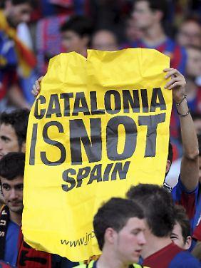 Barca ist der Stolz der Katalanen, die immer wieder für ein autonomes Katalonien kämpfen.
