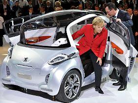 """""""Eine Vielzahl von Konkurrenten"""": Im Bild eine Elektro-Studie von Peugeot (Archivbild)."""