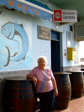 Maria Gonzales hat sich mittlerweile mit den deutschen Touristen arrangiert.