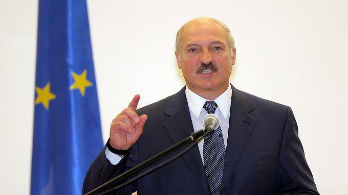 Weißrusslands Präsident Alexander Lukaschenko - das Land kurz vor dem Kollaps? (Bild vom 16. September 2009)