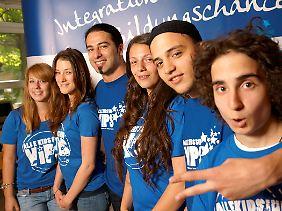 """""""Jackpot"""" - Ceylan mit Schülern der Friedensburg-Oberschule."""