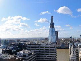 Turmbau zu London: Am Südufer der Themse entsteht das höchste Gebäude der Europäischen Union.