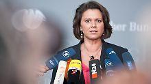 Ministerin Aigner bei einem Statement am 1. Juni.