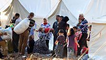 Syrische Flüchtlinge in einem Zeltlager in der Türkei.