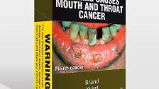 Auf anderen Schachteln wird vor Mundkrebs ...
