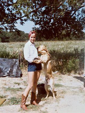 Jerry Hall in jungen Jahren in Texas(Privatarchiv Jerry Hall)