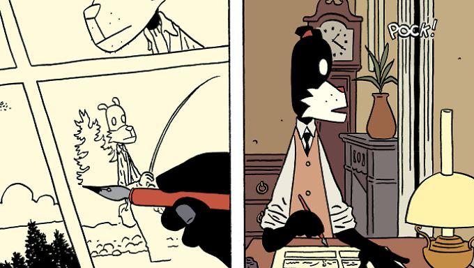 Hemingway am Schreibtisch: Das Leben als Comiczeichner ist im Paris der 20er Jahre nicht leicht.