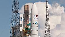 Bleibt vorerst am Boden: Die Ariane-Rakete im französisch-guyanischen Kourou.