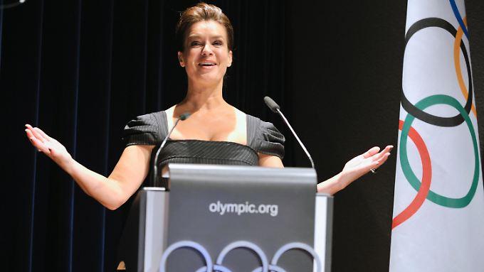 Katarina Witt ist das Gesicht der Münchener Olympiabewerbung - aber reicht ihr Charme?