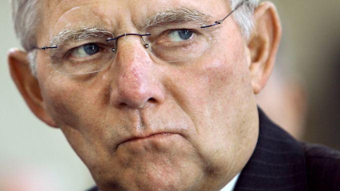 Nicht erfreut über die Italien-Gerüchte: Wolfgang Schäuble.