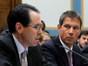 AT&T-Chef Randall Stephenson und sein Telekom-Kollege bei ihrer Anhörung am 26. mai 2011.