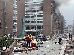 Die City wird nach dem Anschlag geräumt.