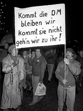Auch so manche Ostdeutsche konnten sich für die D-Mark begeistern.