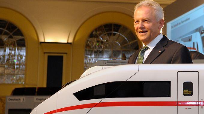 Bahn-Chef Rüdiger Grube reagiert auf Kritik.