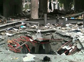Die Explosion riss ein riesiges Loch in den Boden des Osloer Regierungsgebäudes.