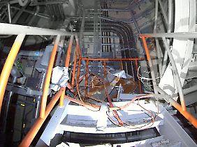 Ein von einem Hilfsroboter aufgenommenes Bild aus dem Inneren des Reaktorgebäudes.