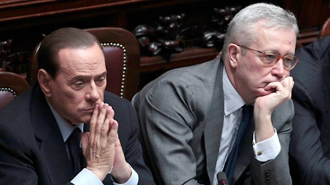Ministerpräsident Silvio Berlusconi und Finanzminister Giulio Tremonti.