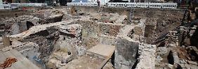 Blick in die Ausgrabungsstätten und Bauarbeiten an der Archäologischen Zone. (Archivbild von Juli 2009)
