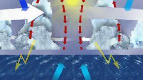 Entstehung über dem Meer: Wasserdampf ist Motor eines Hurrikans