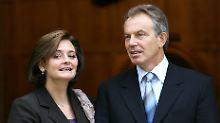 Die ehemalige First Lady Großbritanniens soll sich mit dem Schweinegrippe-Virus infiziert haben.