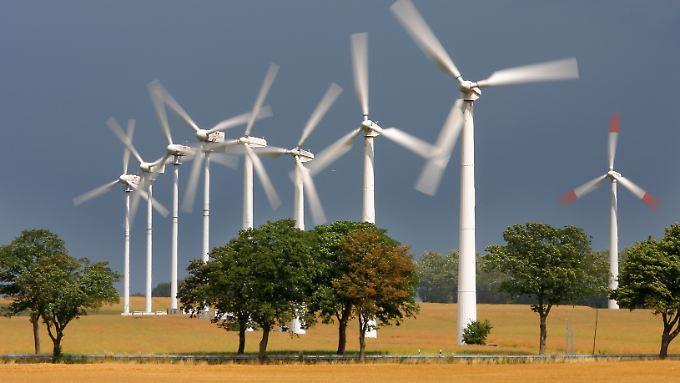 Windenergieanlagen sind in Mecklenburg-Vorpommern weit verbreitet.