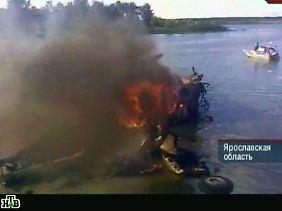 Ein Teil der Maschine stürzte in die Wolga.