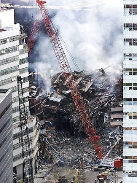 Trümmer von WTC 7.