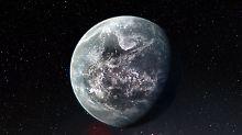 Das undatierte ESO-Handout zeigt die künstlerische Darstellung der felsigen Supererde HD 85512 b. Sie gehört zu den mehr als 50 gefundenen neuen Exoplaneten.