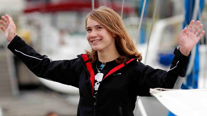 Laura Dekker im August 2010.