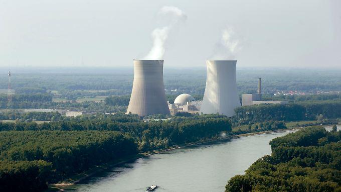 Das Atomkraftwerk Philippsburg in Baden-Württemberg. Block 1 ist stillgelegt, Block 2 soll noch bis 2028 laufen.