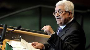 USA will Veto einlegen: Abbas wirbt für Palästinenser-Staat