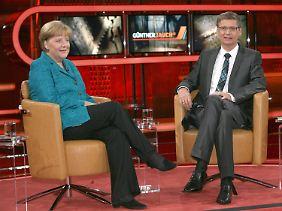 """In der ARD-Sendung """"Günther Jauch"""" will Merkel die Euro-Skeptiker beruhigen."""