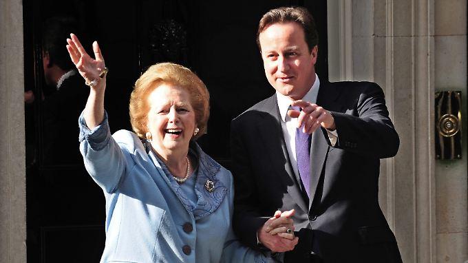 Vergangenheit holt Gegenwart ein: Margaret Thatcher und David Cameron.