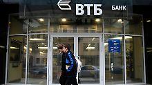 Ein Gradmesser für die Lage der russischen Kreditwirtschaft: VTB-Filiale in St. Petersburg.