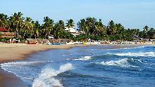 Halbmondbucht Arugam Bay im Osten Sri Lankas: Wer sich dort erholen möchte, muss für die Einreise in das Land vorab ein Visum beantragen.