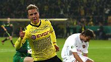 Glänzend: Mario Götze entschied die Partie gegen Zweitligist Dynamo Dresden mit dem 2:0 für Dortmund.