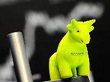 Allzeithoch dank Macron: 12.455: Anleger lassen Dax-Bullen fliegen