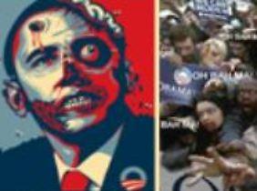 Oberzombie Obama und seine untoten Anhänger.