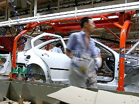 Produktion im FAW-Volkswagen-Werk in Changchun.