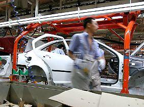 Produktion im FAW-Volkswagen-Werk in Changchun.