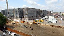 Die Baustelle in Berlin im Juli dieses Jahres.