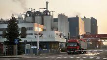 Die Zuckerrübenfabrik in Könnern.
