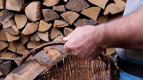 Nur unlackiertes, trockenes Holz gehört in den Kamin.